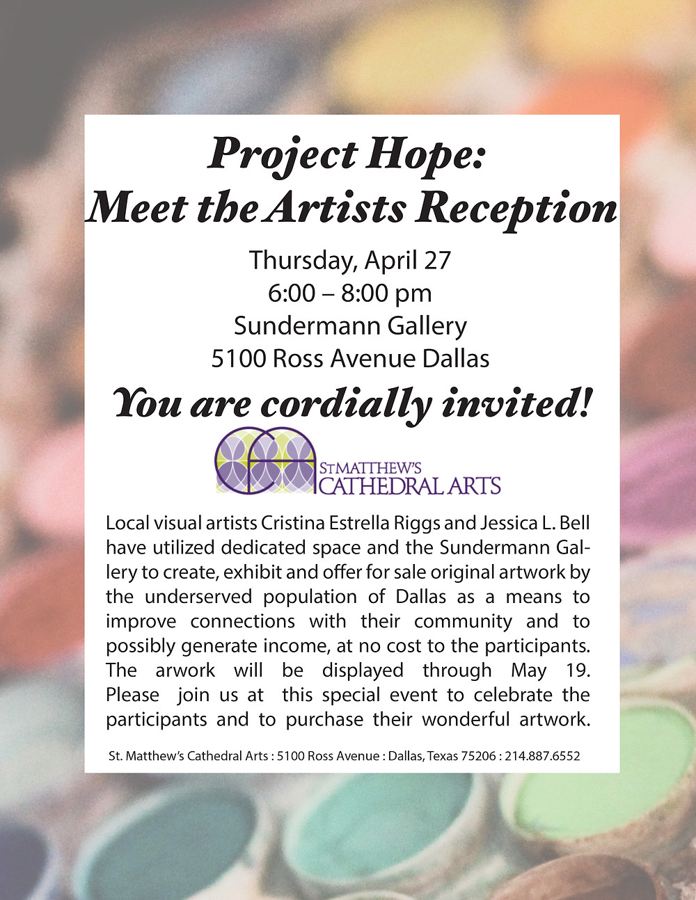 Project Hope: Meet the Artists Reception
