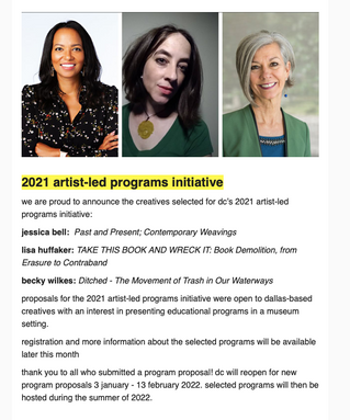 2021 artist-led programs initiative