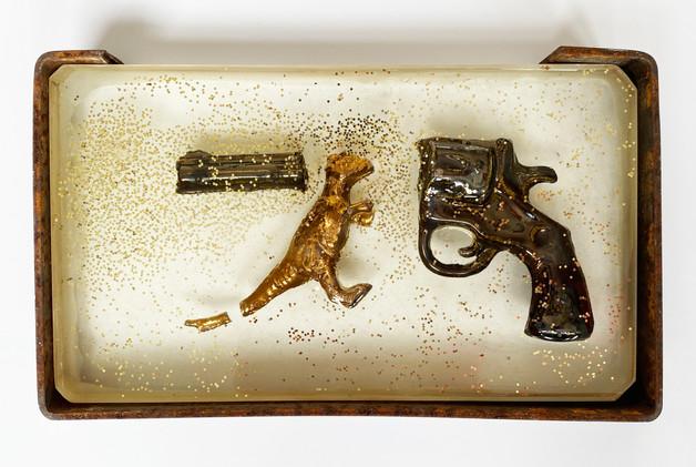 Gold Plated Dino Gun