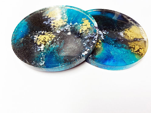 Set of 2 Resin Coasters