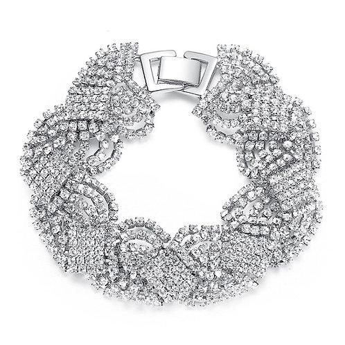 Twist crystal bracelet