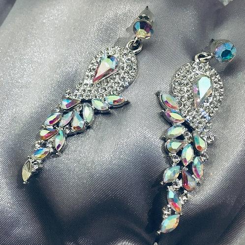 Feathers dangle earring