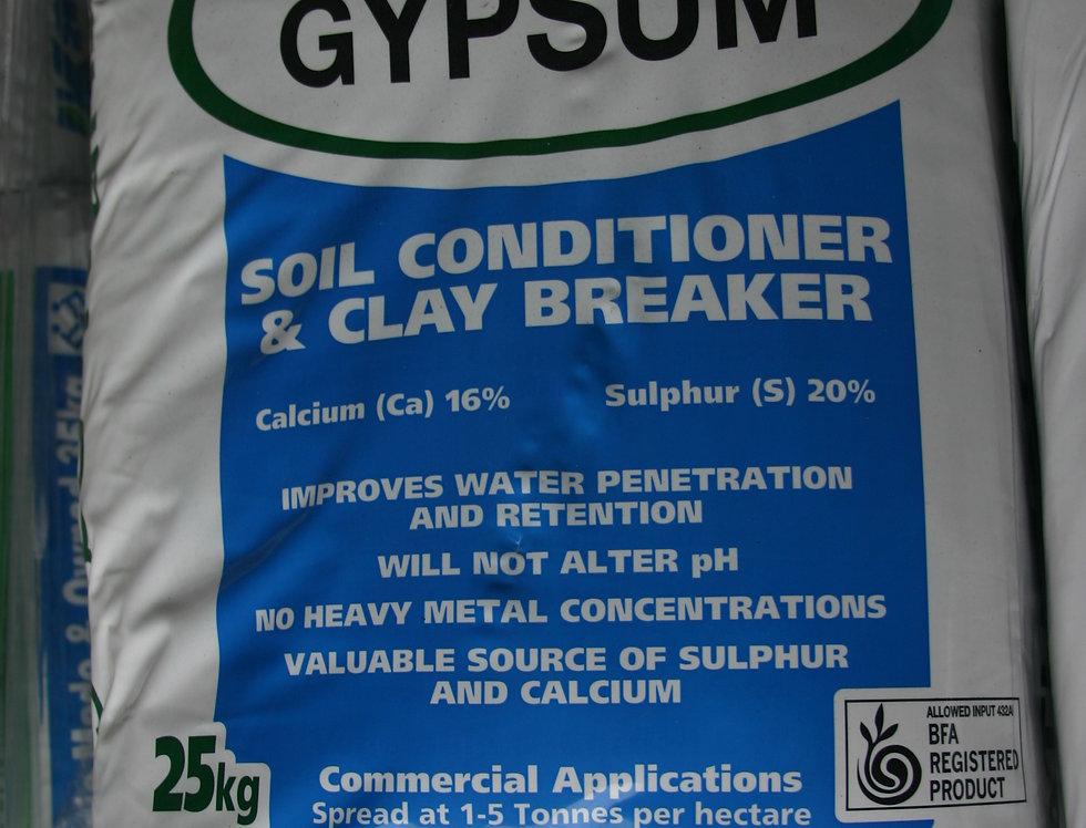 Gypsum soil conditioner