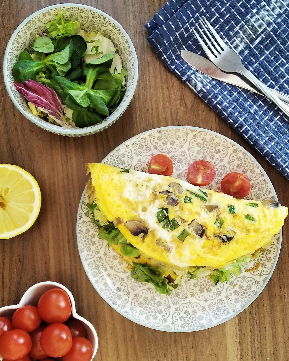 omlet warzywny, poradnia dietetyczna Holi Diet, Ada Śledziewska www.holi-diet.pl