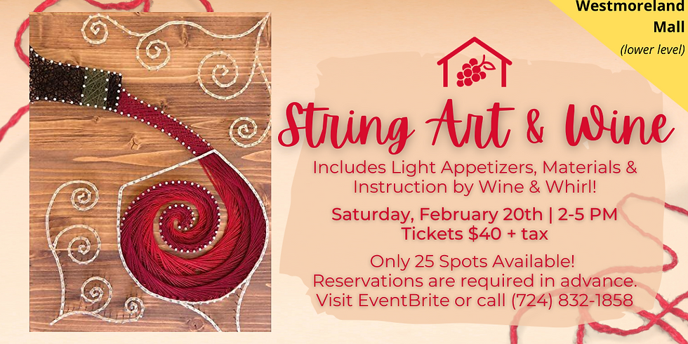 String Art and Wine (Westmoreland Mall)