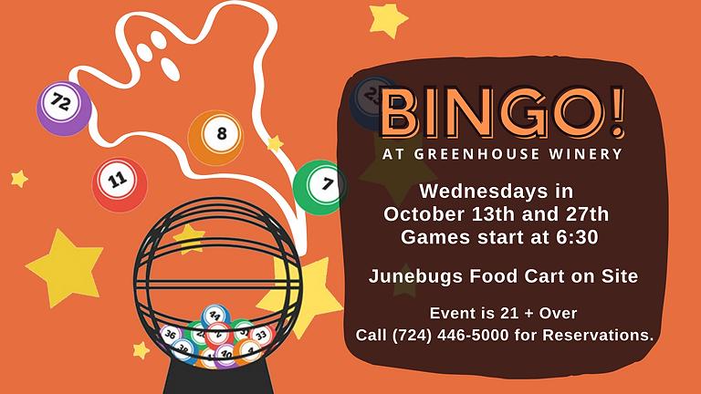 Bingo at Greenhouse Winery!