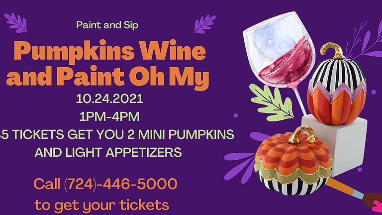 Pumpkin Paint and Sip