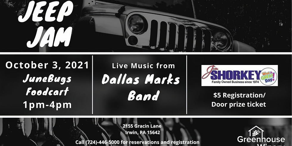 Jeep Jam w/ music by the Dallas Marks Band
