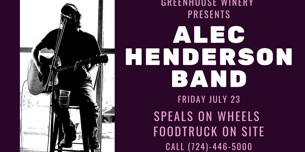 Live Music by The Alec Henderson Band