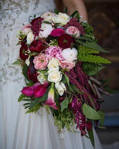 Burgandy trailing bouquets Melbourne