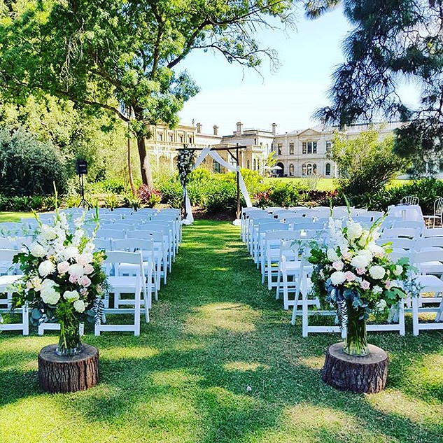 Outdoor Ceremony Werribee Mansion
