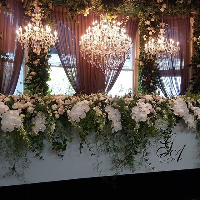 Floral arrangement for Bridal table Melbourne