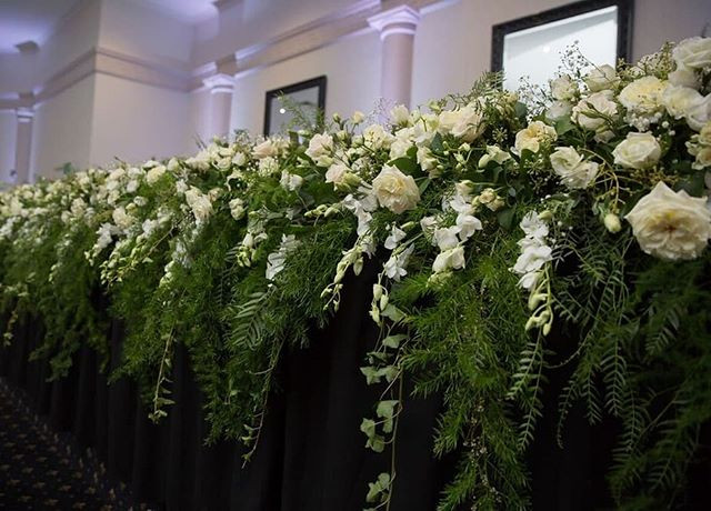 White Flowing Bridal Table flowers