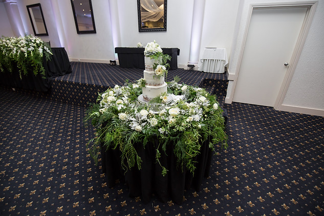 3 Tier Wedding cake with florals