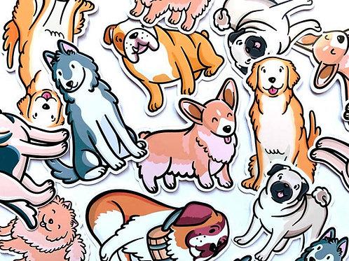Dog Breeds Sticker Pack