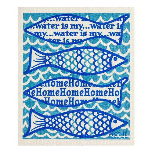 Water Is My Home Wet-It Swedish Dish Cloth