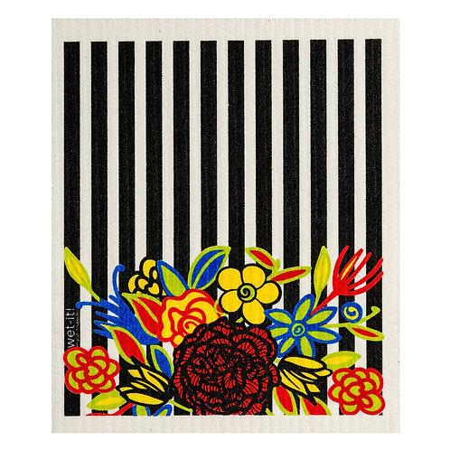 Striped Floral Wet-It Swedish Dish Cloth