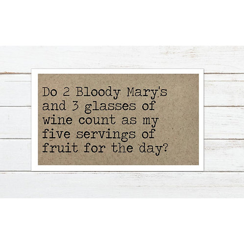 Bloody Mary Magnet by Says The One