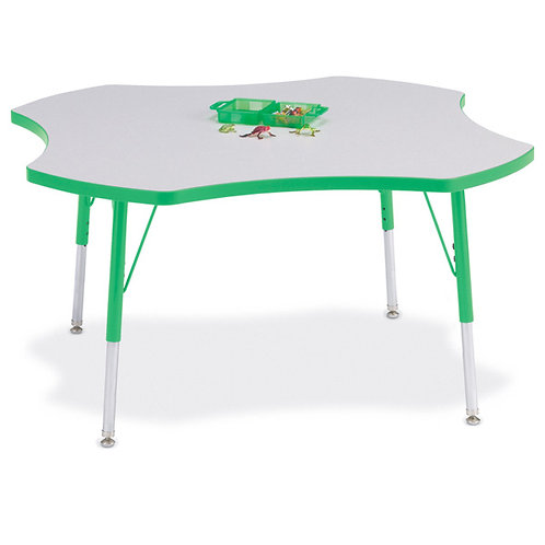 Berries Four Leaf Activity Table - Gray/Green