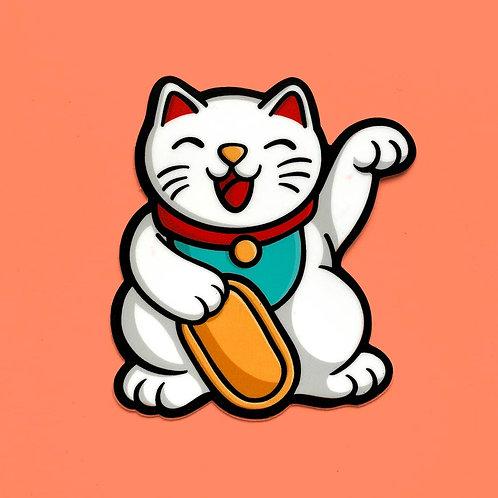 Lucky Cat Vinyl Sticker
