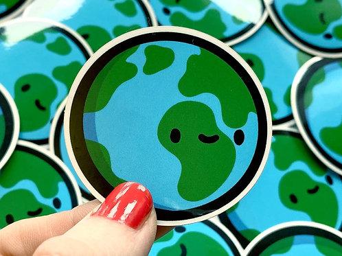 Mini Earth Vinyl Sticker