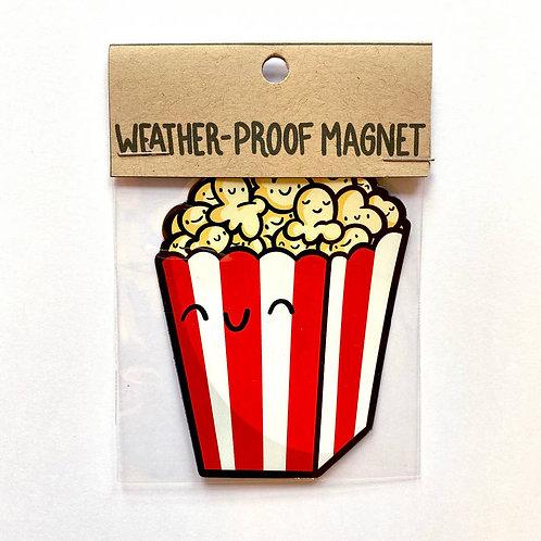 Movie Theater Popcorn Weatherproof Magnet