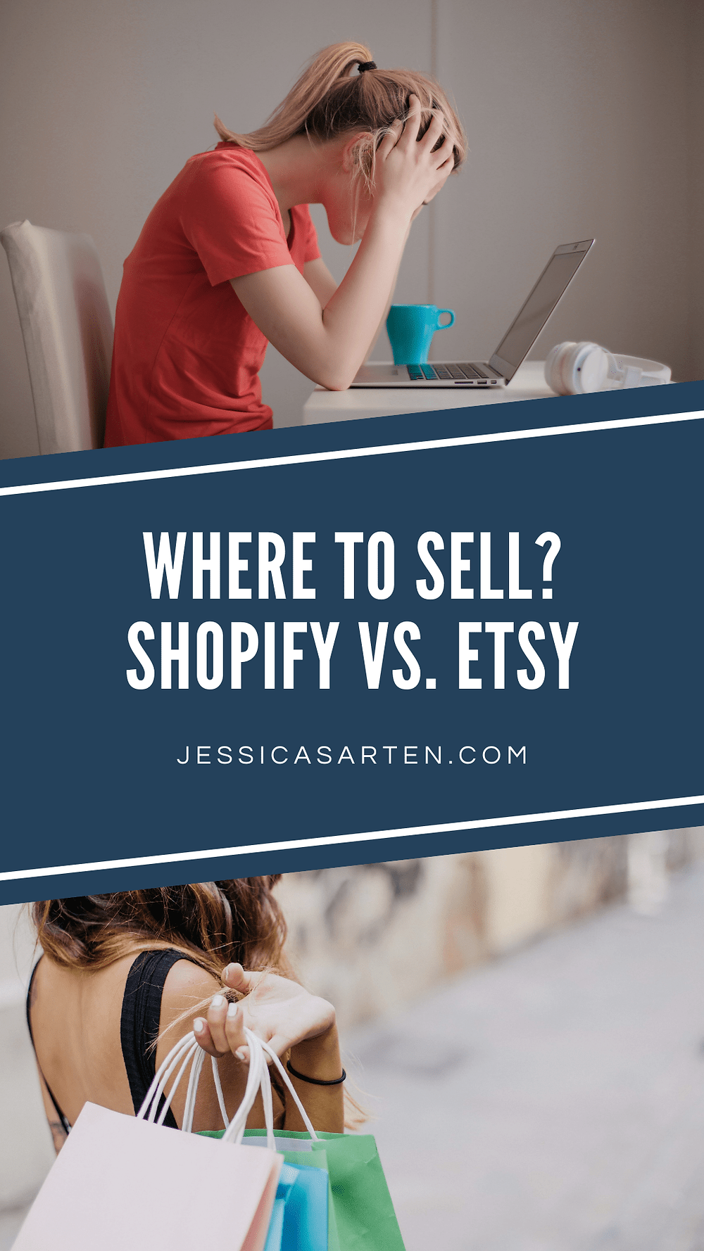 shopify vs. etsy pinterest graphic
