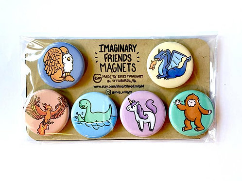 Imaginary Friends Magnet - Pack of 6