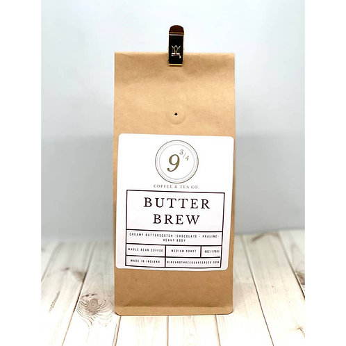 Butter Brew 6 oz. Whole Bean Coffee by 9 3/4 Coffee and Tea Co.