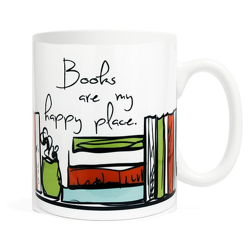 Books Are My Happy Place Mug