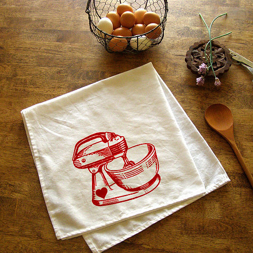 Vintage Mixer Kitchen Towel by Bruno and Betty