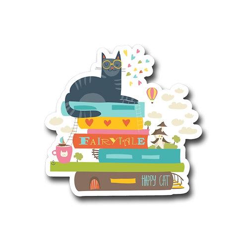 Fairy Tail Cat Vinyl Sticker