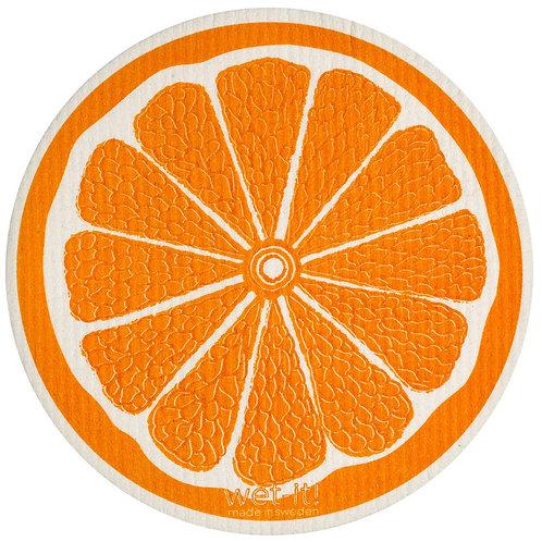 Orange Round Wet-It Swedish Dish Cloth