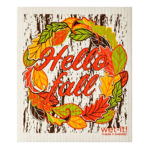 Hello Fall Wet-It Swedish Dish Cloth