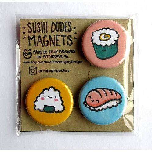 Sushi Dudes Magnet (Set 1) - Pack of 3