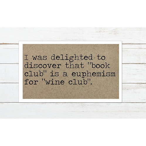 Book Wine Club Magnet by Says The One