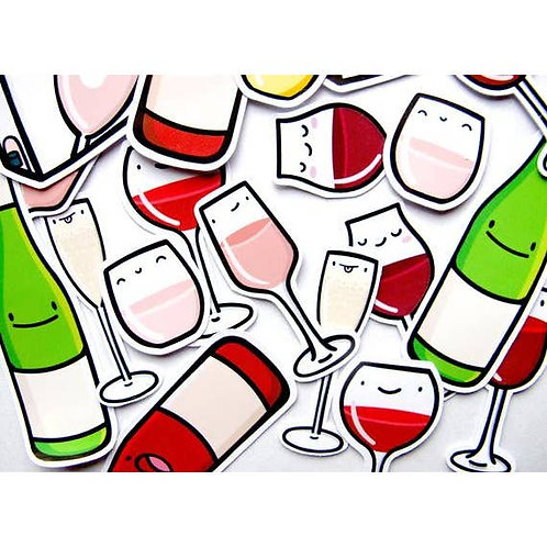 Wine Buddies Sticker Pack