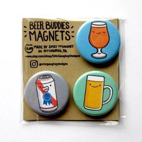 Beer Buddies Magnet - Pack of 3