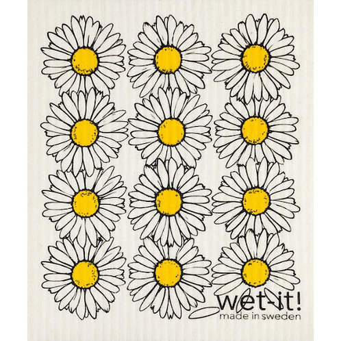 Daisies Wet-It Swedish Dish Cloth