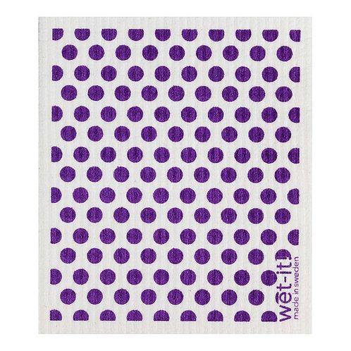 Dots and Dots Purple Wet-It Swedish Dish Cloth