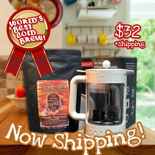 Cold Brew Coffee Kit by Pedal Java