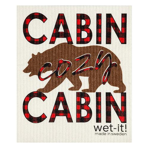 Cabin Cozy Cabin Wet-It Swedish Dish Cloth