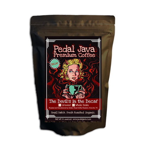 The Devil's in the Decaf by Pedal Java