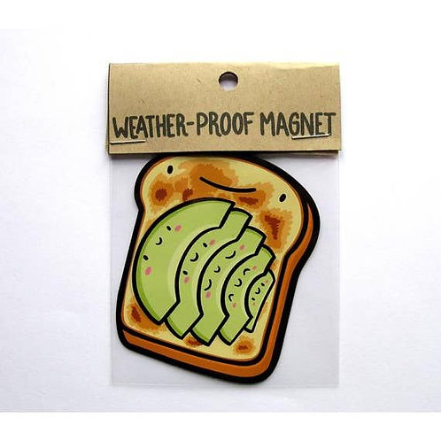Avocado Toast Weatherproof Magnet