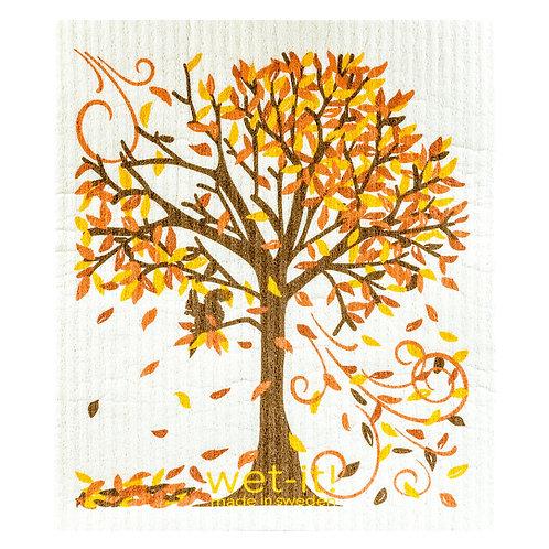 Fall Tree Wet-It Swedish Dish Cloth