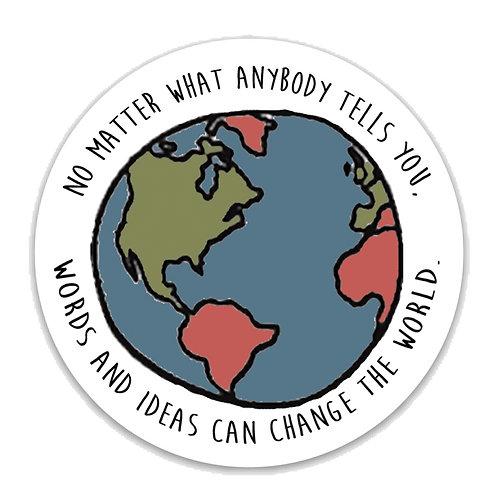 Words and Ideas Vinyl Sticker