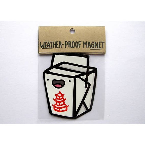 Take Out Food Weatherproof Magnet