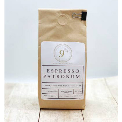 Espresso Patronum 6 oz. Whole Bean Coffee by 9 3/4 Coffee and Tea Co.