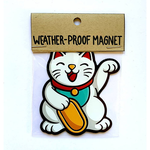 Lucky Cat Weatherproof Magnet