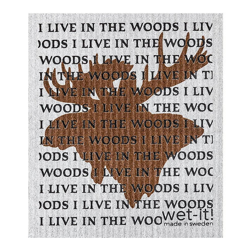 I Live In The Woods Wet-It Swedish Dish Cloth